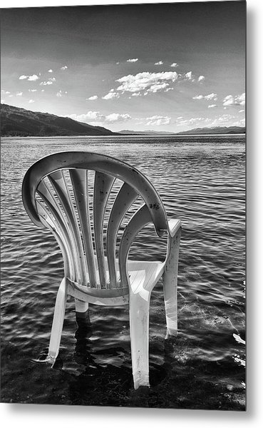 Lakeside Waiting Room Metal Print
