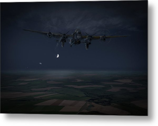 Metal Print featuring the photograph Lancaster Baleout by Gary Eason