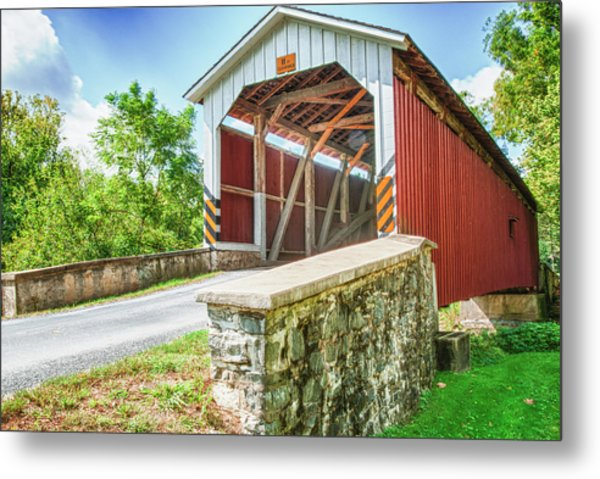 Lancaster Covered Bridge Metal Print