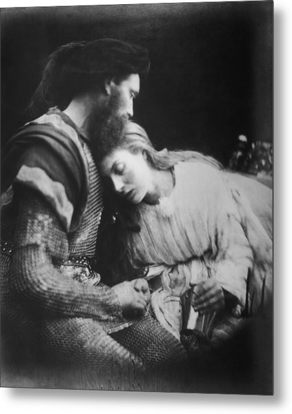 Lancelot And Guinevere Metal Print by Julia Margaret Cameron