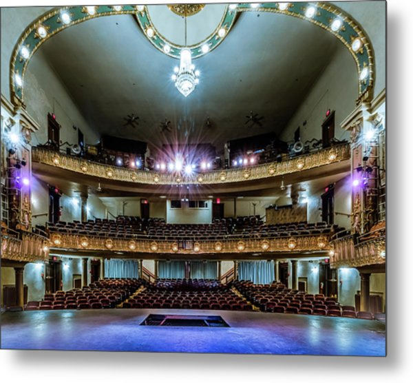 Landers Theatre Stage View Metal Print