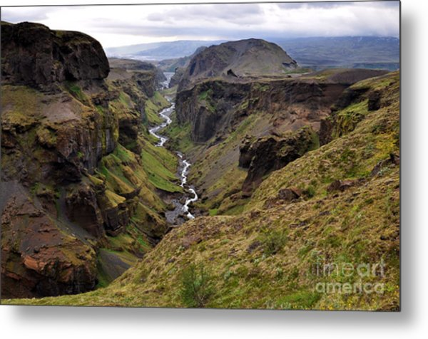 Landscape Of Canyon And River In Metal Print
