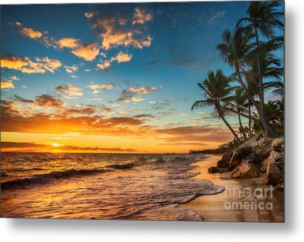 Landscape Of Paradise Tropical Island Metal Print