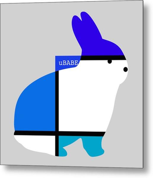 Lapin Agile Blue Metal Print