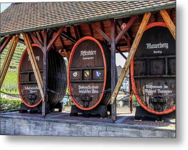 Metal Print featuring the photograph Large Wine Casks by Dawn Richards