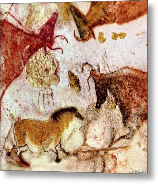Lascaux Horse And Cows Metal Print