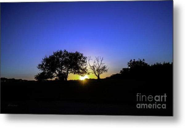 Last Light Texas Hill Country Paradise Canyon Sunset 8053a Metal Print