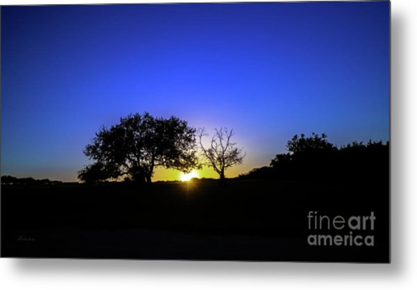 Last Light Texas Hill Country Paradise Canyon Sunset 8053a1 Metal Print
