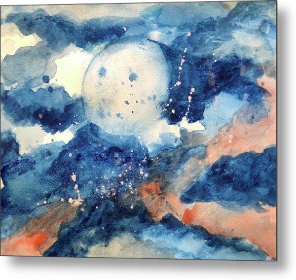 Last Nights Magic Moon Metal Print