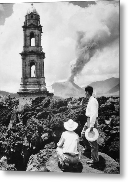 Lava Covers Church Metal Print by Evans