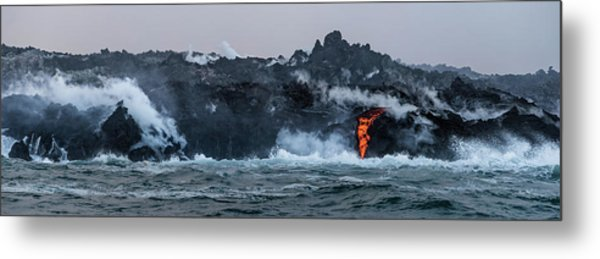 Metal Print featuring the photograph Lava Entering The Sea IIi by William Dickman