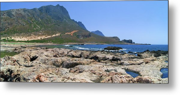 Lava Rocks Of Balos Metal Print