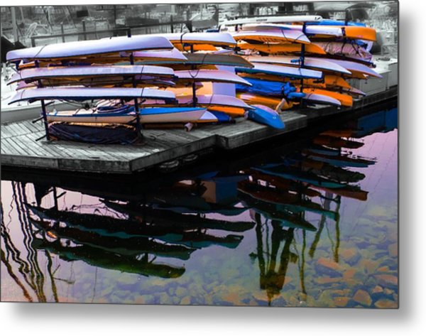 Layers And Layers By The Water Metal Print