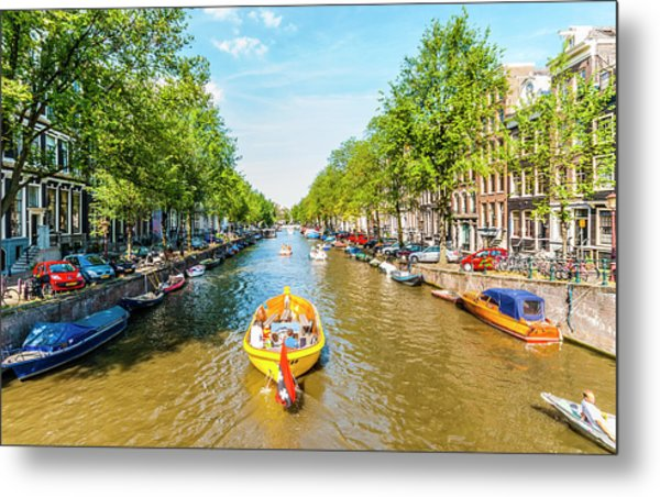 Lazy Sunday On The Canal Metal Print