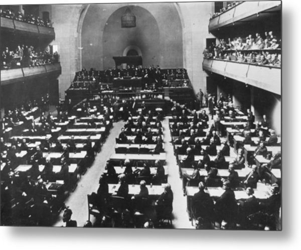 League Of Nations Metal Print by Hulton Archive