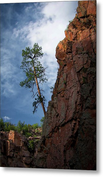 Leaning Over The Abyss Metal Print
