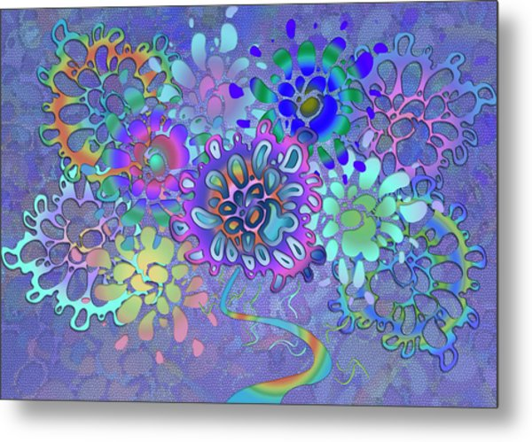 Metal Print featuring the digital art Leaves Remix Two by Vitaly Mishurovsky