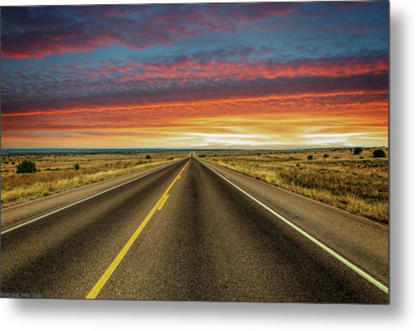 Leaving Lubbock Vanishing Point Metal Print
