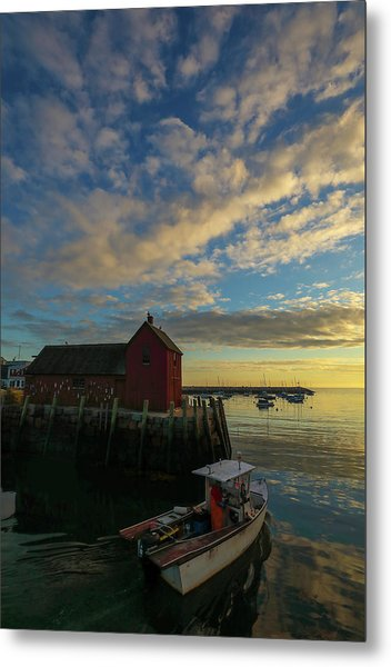 Metal Print featuring the photograph Leaving Safe Harbor by Juergen Roth