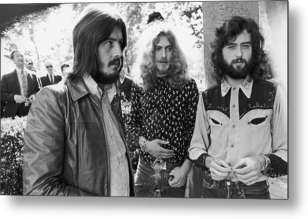 Led Zeppelin Metal Print by Popperfoto