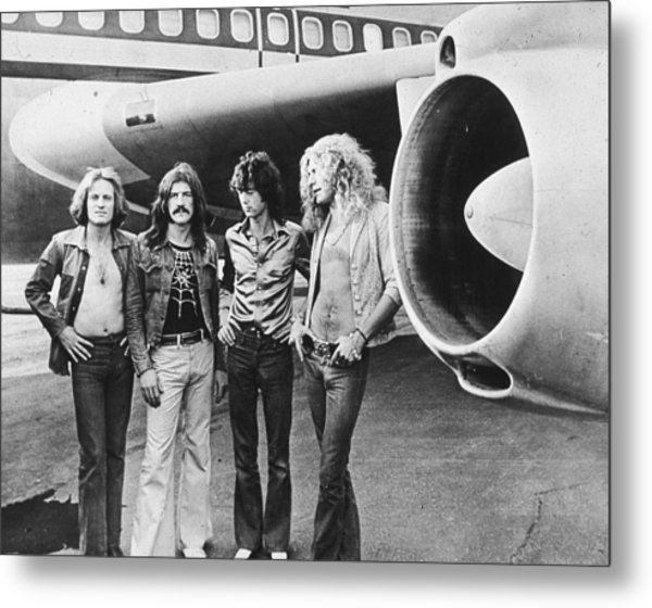 Led Zeppelin With Jet Metal Print