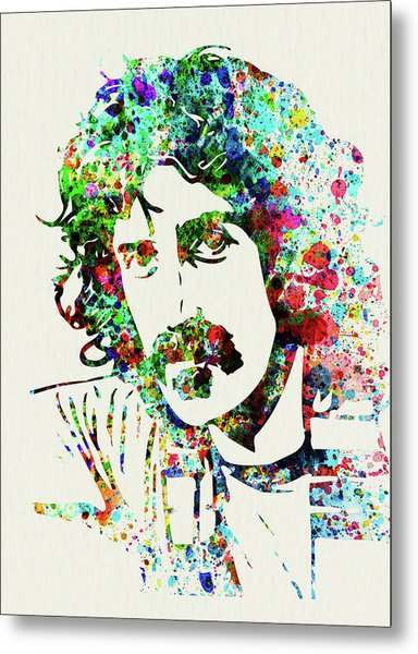 Legendary Frank Zappa Watercolor Metal Print
