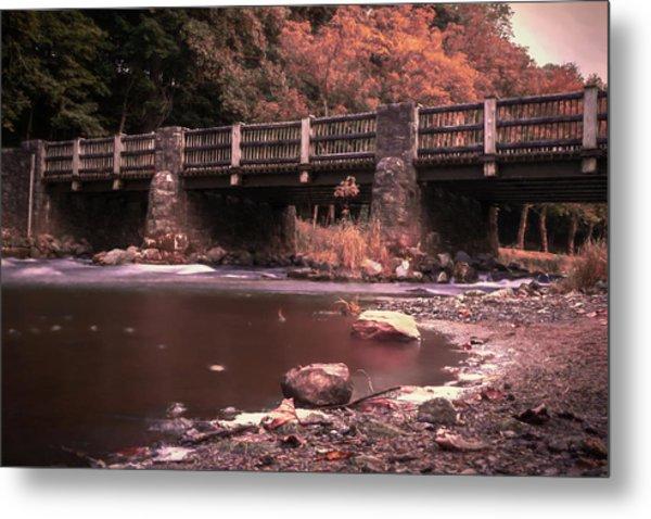 Lehigh Parkway Robin Hood Bridge - Impressionism Metal Print