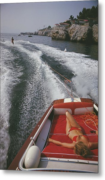 Leisure In Antibes Metal Print by Slim Aarons