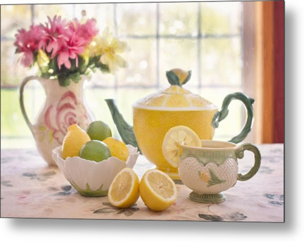 Lemon Tea  Metal Print