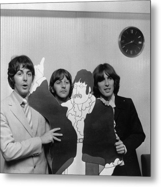Lennon Cut-out Metal Print