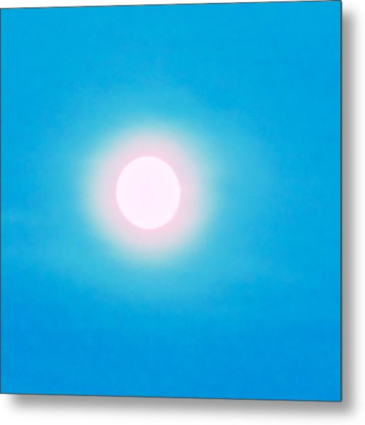 Metal Print featuring the photograph Leo Blue Moon In Turquoise by Judy Kennedy