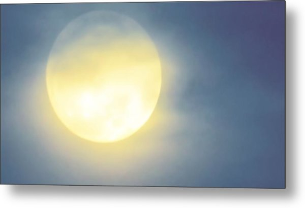 Metal Print featuring the photograph Leo Blue Super Moon by Judy Kennedy