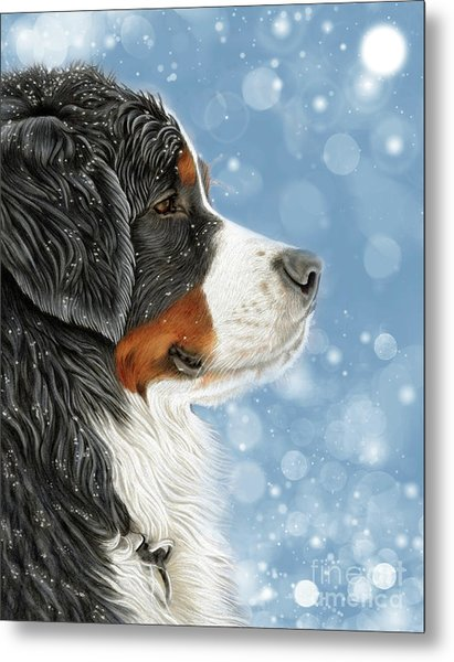 Metal Print featuring the mixed media Let It Snow - Arctic Blue by Donna Mulley