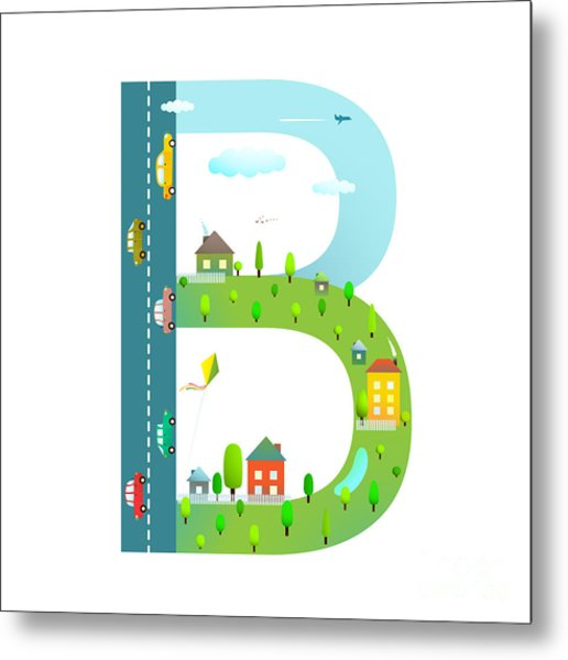 Letter B Of The Latin Alphabet For Metal Print