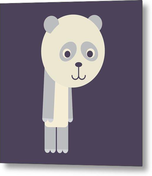 Letter P - Animal Alphabet - Panda Monogram Metal Print