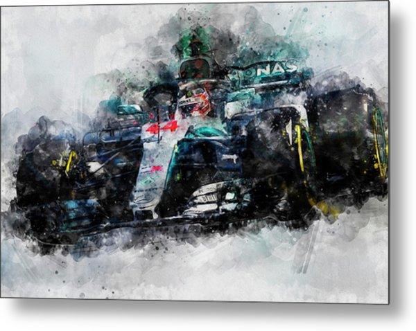 Lewis Hamilton, Mercedes Amg F1 W09 - 10 Metal Print