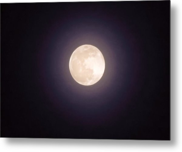Metal Print featuring the photograph Libra Full Moon by Judy Kennedy