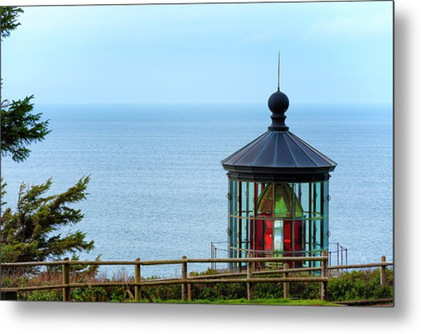 Light At Cape Meares Metal Print