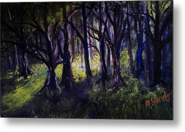 Light In The Forrest Metal Print