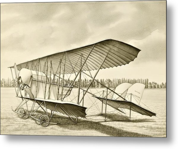 Light Plane Metal Print