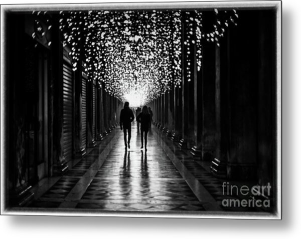 Light, Shadows And Symmetry Metal Print