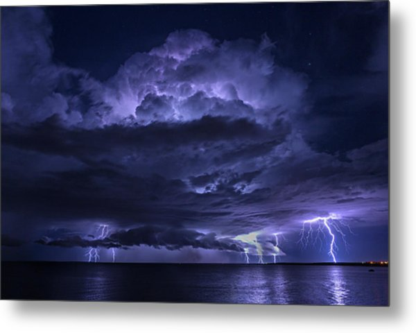 Light Show At Cooke Point, Port Hedland Metal Print