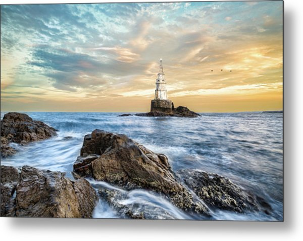 Lighthouse In Ahtopol, Bulgaria Metal Print