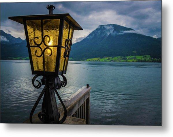 Lighthouse On The Sank Wolfgang Lake Metal Print