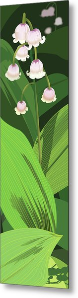 Lily Of The Valley Metal Print by Marian Federspiel