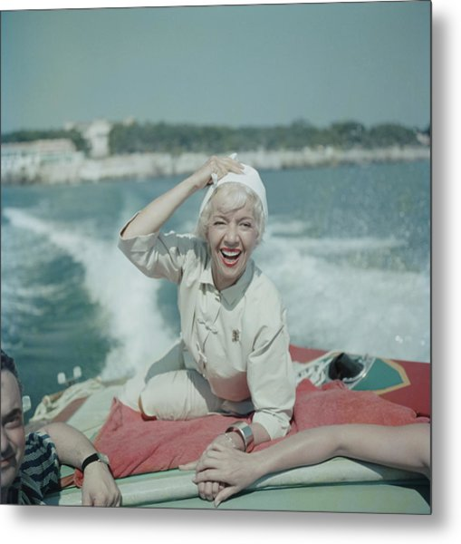 Lily On The Riviera Metal Print by Slim Aarons