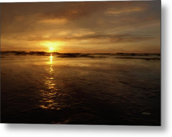 Metal Print featuring the photograph Lingering Sunset by John M Bailey