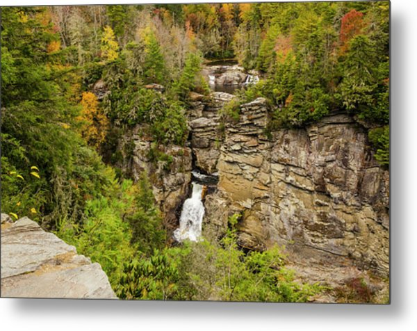 Linville Falls - Wide View Metal Print