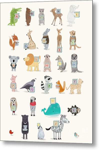 Little Alphabet Metal Print by Bri Buckley