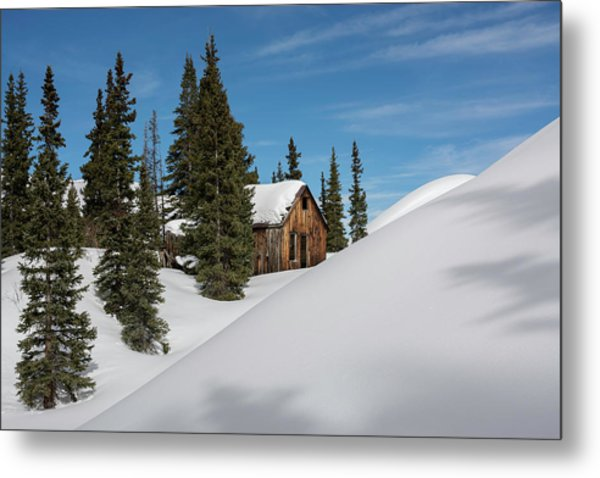 Metal Print featuring the photograph Little Cabin by Angela Moyer